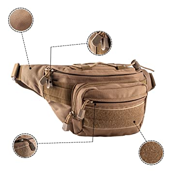 Amazon.com: Silla-Tech Tactical Fanny Packs Set 2 Durable Military Style Waist Bag Daily Use: Silla-Tech