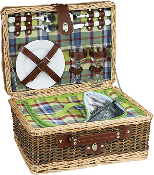 Picknick-Korb MELANO Picknickkorb Picknickkoffer Weide Geschirr 156607 Cilio