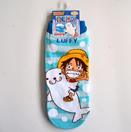 One Piece Calcetines de Fantasmas Socks Rufy Luffy Foca Originales Talla 22-24 .