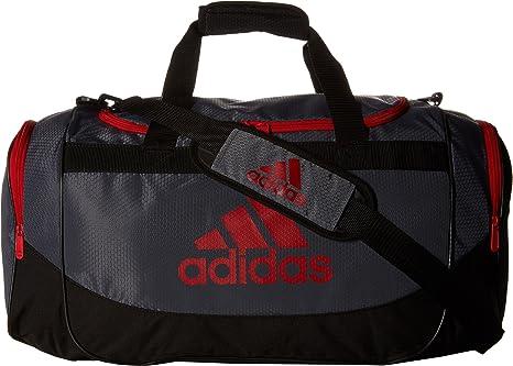 adidas Unisex Defense Medium Duffel Bag Lead Light Scarlet One Size db1802f6fb7b7