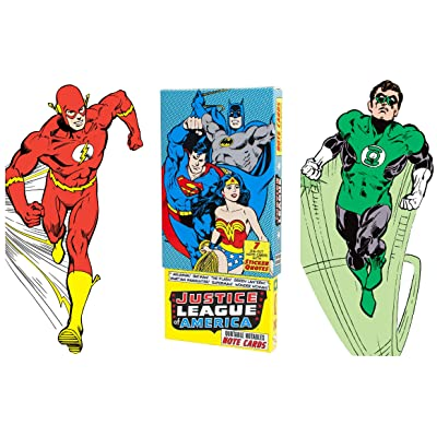 Justice League of America Greeting Card Boxed Set - Die Cut Silhouette Cards of Aquaman, Batman, The Flash, Green Lantern, Martian Manhunter, Superman, Wonder Woman : Office Products