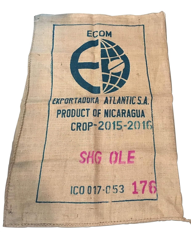 SABOREATE Y CAFE THE FLAVOUR SHOP Tela de Saco de Café de Origen Colombia Reutilizado para Tapizar de Yute Arpillera 100% Natural (70 cm x 1 metro): ...