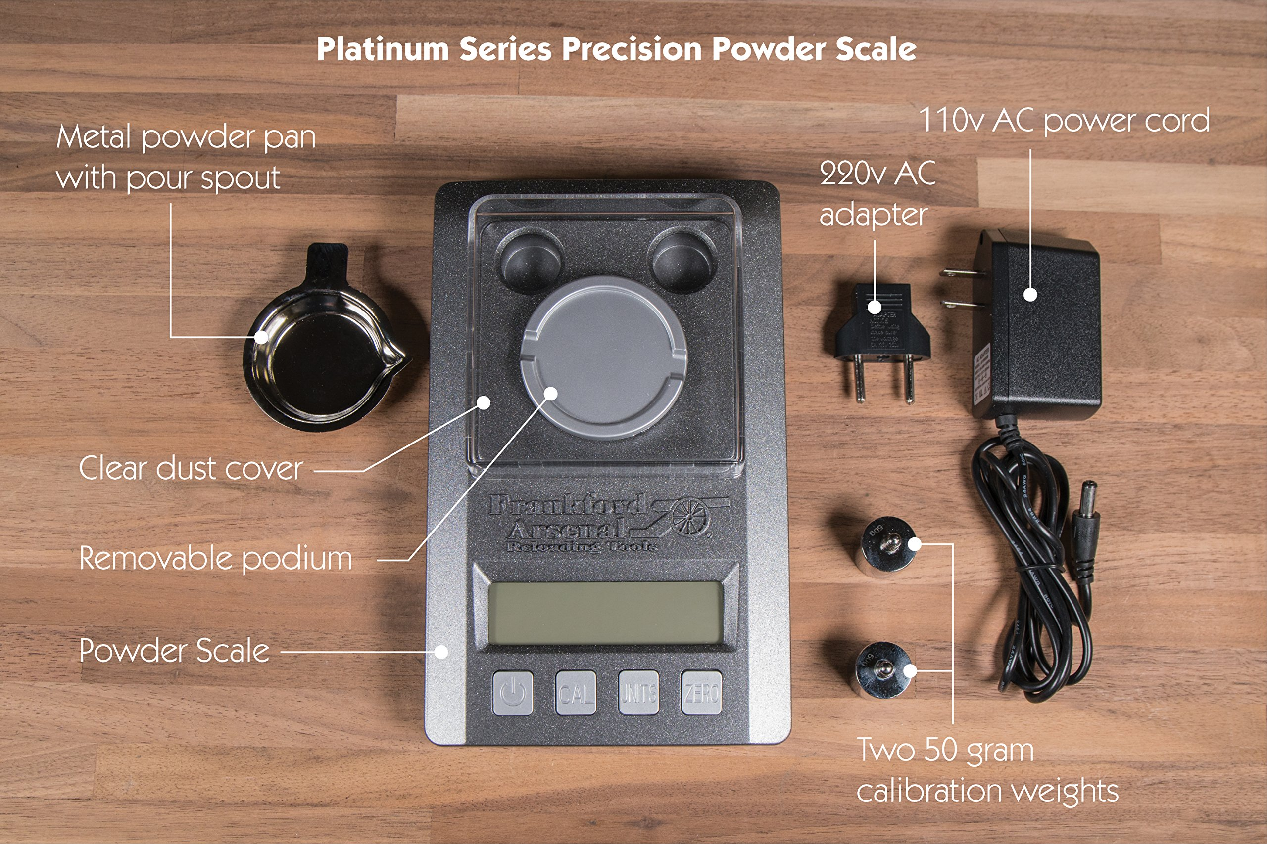 Frankford Arsenal Platinum Series Precision Scale with LCD Display and Case for Reloading by Frankford Arsenal (Image #5)