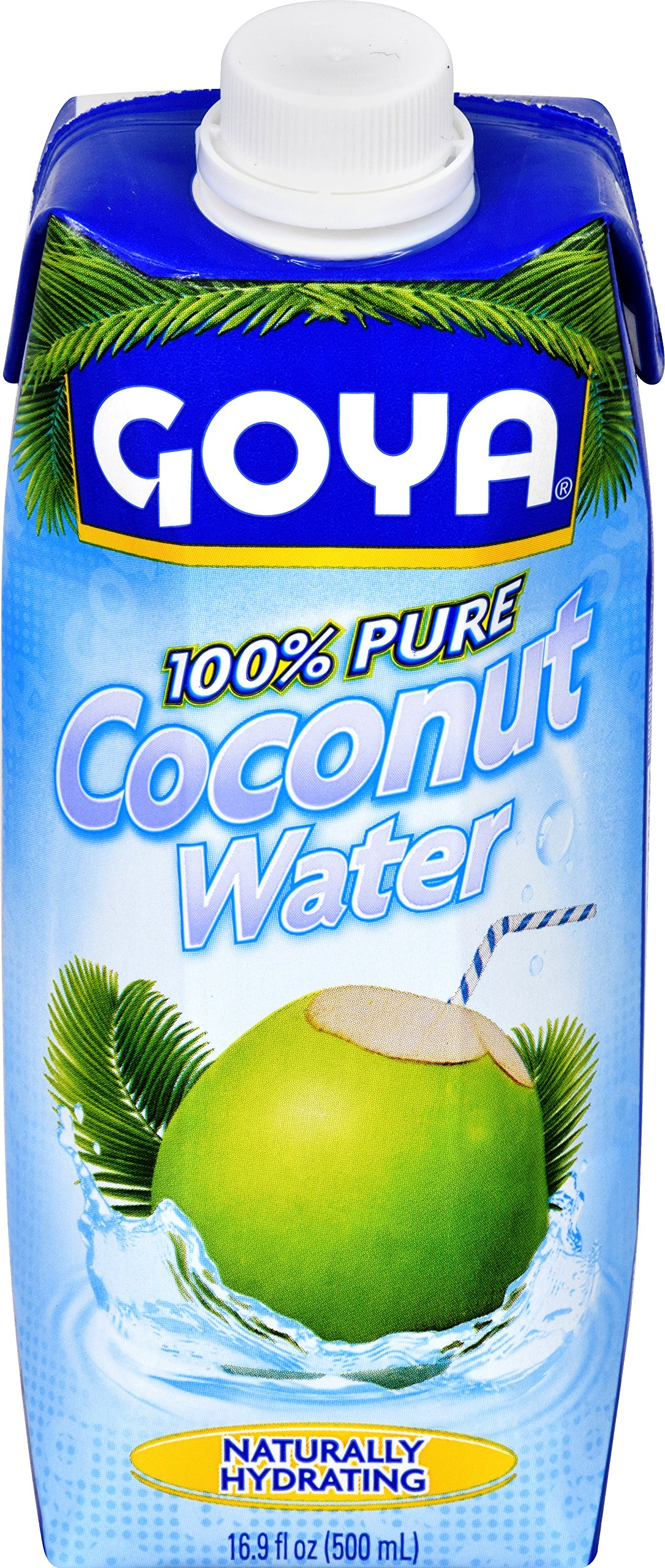 Goya Foods Pure Coconut Water, 16.89 oz (Pack of 24)