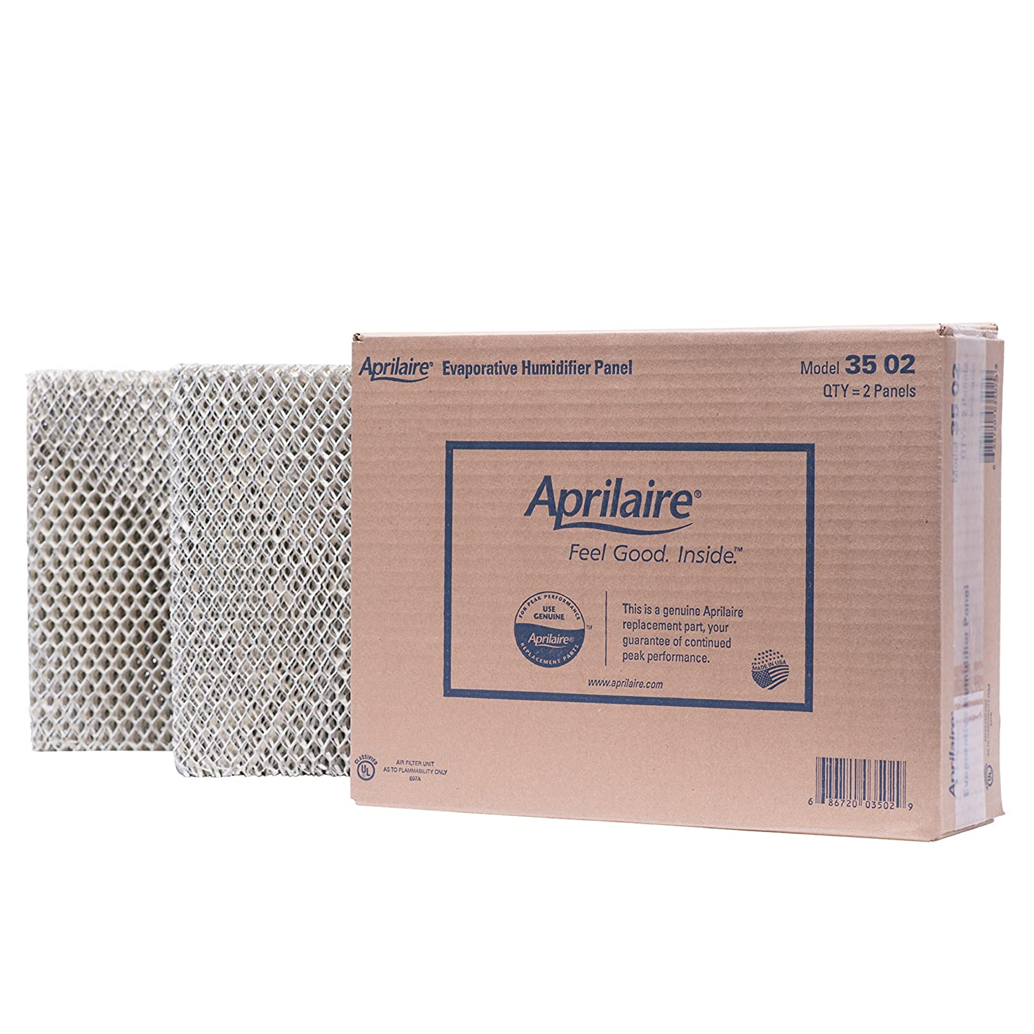 Aprilaire 35 Water Panel, Fits Humidifiers 600, 600A, 600M, 700, 700A, 700M, 760, 768, 350, 360, 560 and 568, Pack of 2 35 02