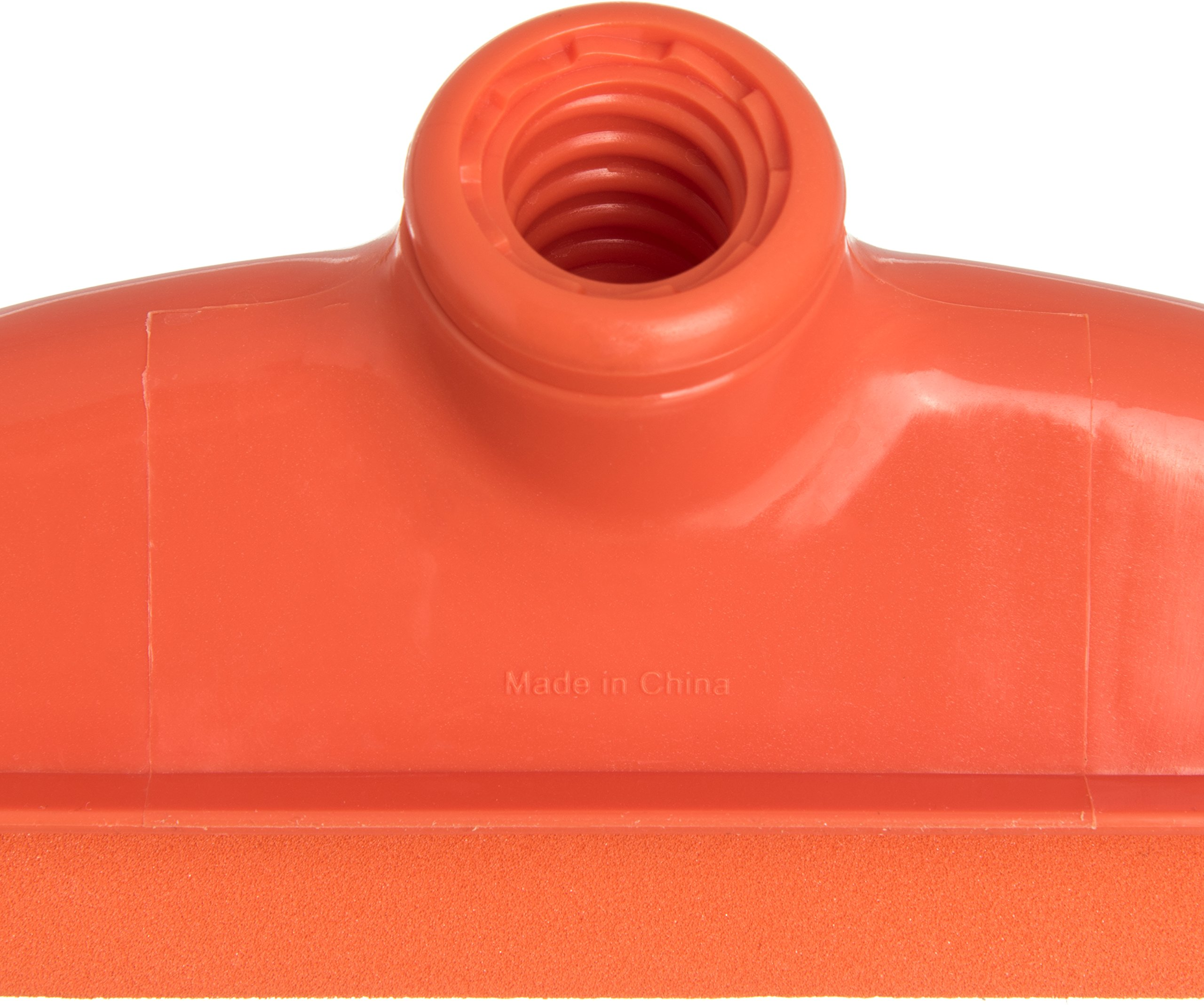Carlisle 4156824 Spectrum Double Foam Rubber Floor Squeegee with Plastic Frame, 24'' Length, Orange by Carlisle (Image #5)