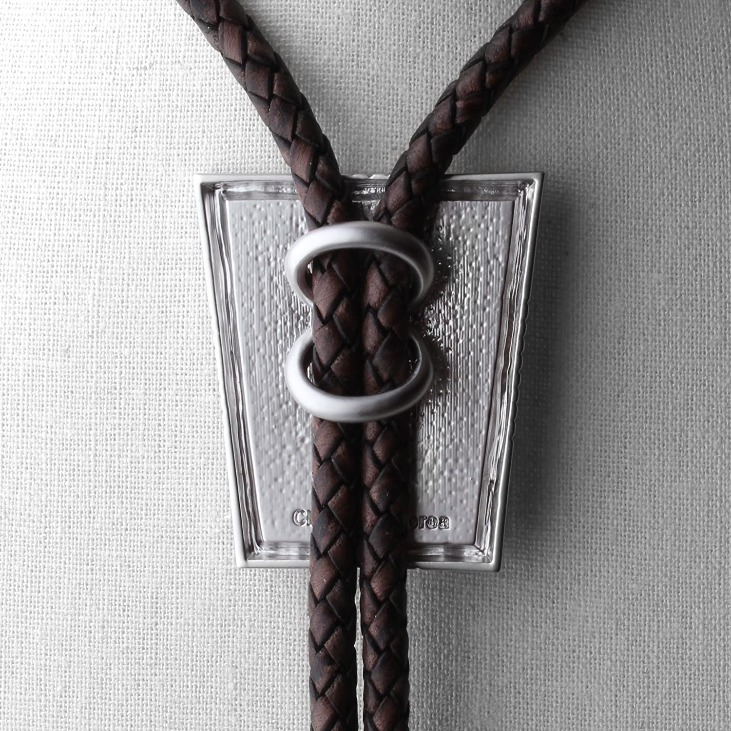 Bolo Tie Cloisonne Genuine Leather Sir Collection Patchwork VI Get One More Cord