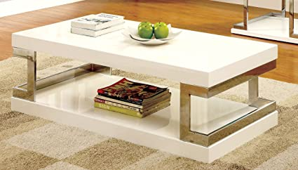 Amazoncom Furniture Of America Idf 4486c Adina Modern Coffee Table