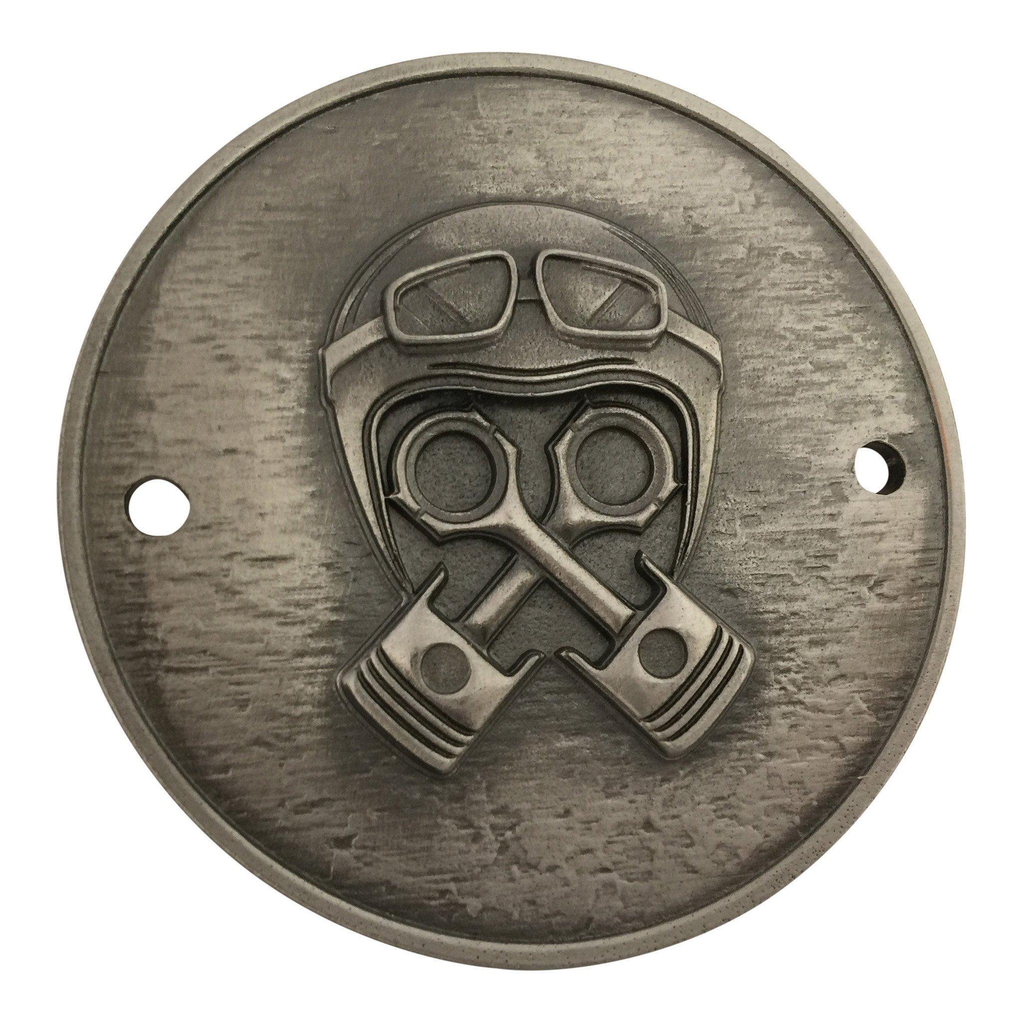 BrassBallsCycles Ignition Cover, Piston Helmet: Evo, Shovel & Panhead