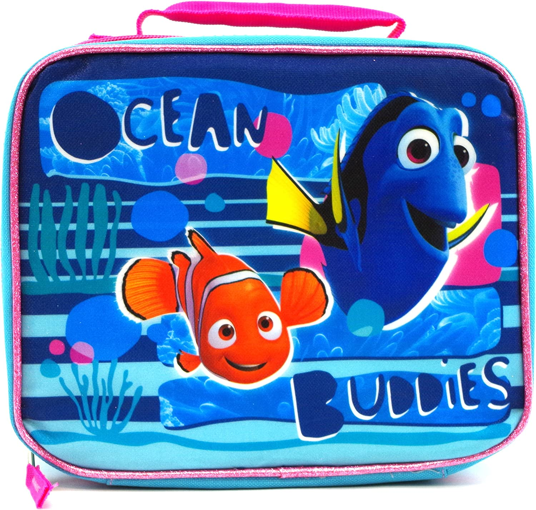 "Disney Finding Dory Nemo 16/"" Large School Backpack /& Detachable Lunch Bag"