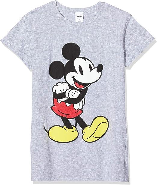 Disney Micky Mouse Classic Mickey Sudadera, Gris (Grey 003), L para Mujer