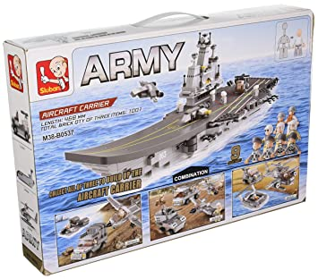 9 In 1 Army Navy Aircraft Carrier Set Multi Military Vehicles Lego