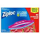 Ziploc Storage Bags, quart, 80 Count (Pack of 1)