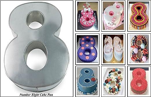 Fabulous New Large Number Eight Birthday Wedding Anniversary Cake Tin Personalised Birthday Cards Cominlily Jamesorg