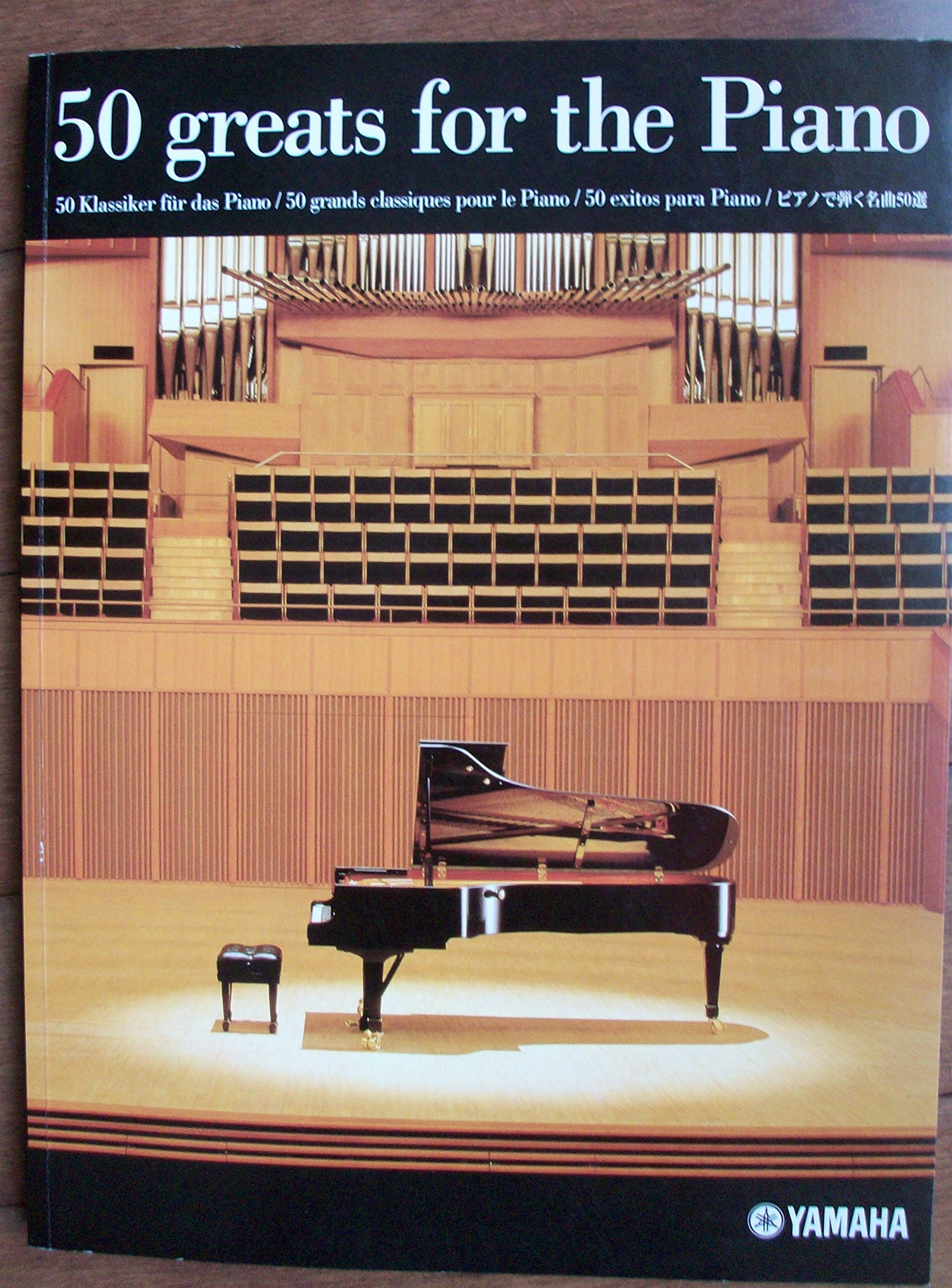 50 greats for the piano yamaha amazon books fandeluxe Image collections