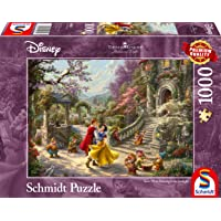 Schmidt - SCH-59625 - Disney, Dansen met de prins, 1000 stukjes Puzzel - vanaf 12 jaar - disney puzzel - sneeuwwitje - van Thomas Kinkade