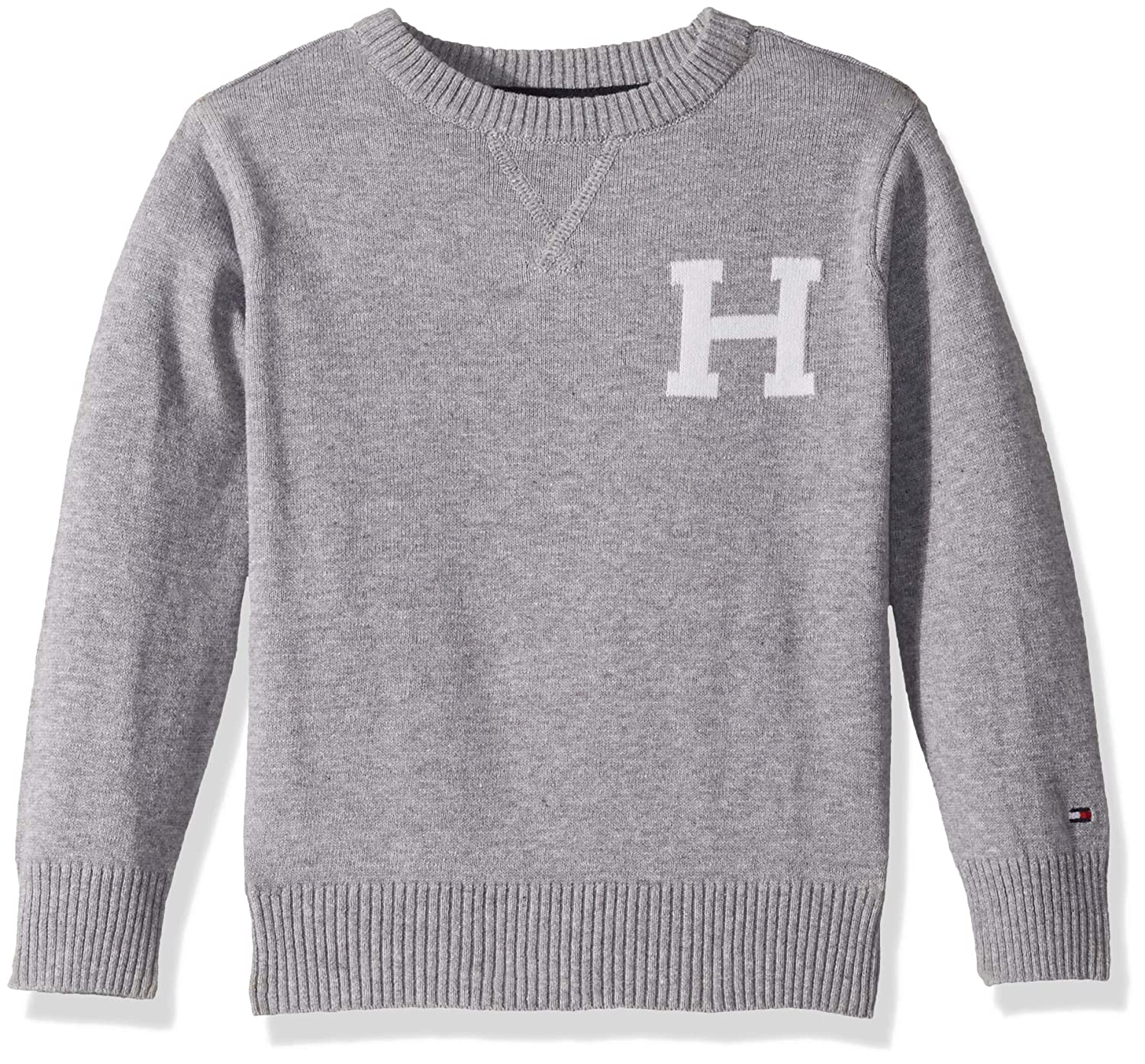 Tommy Hilfiger Boys' Long Sleeve Crew-Neck Sweater