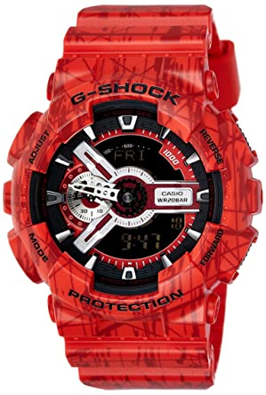14260d63fda4 Image Unavailable. Image not available for. Color  Casio G-Shock Men s  Analog-Digital Red Strap Watch ...