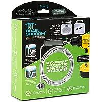 DrainShroom Revolutionaire Tub en Sink Snake Auger Clog Remover voor Badkamer Drains, 105cm, roestvrij staal, Standaard