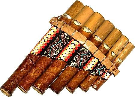 Fl/ûte de Pan en Bambou Instrument de Musique Bois Artisanal Panpipes Bamboo Flauta panflute