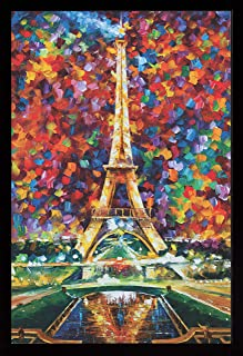 product image for Frame USA Paris of My Dreams by LEONID AFREMOV Poster (Black Affordable Medium Frame)(24x36)