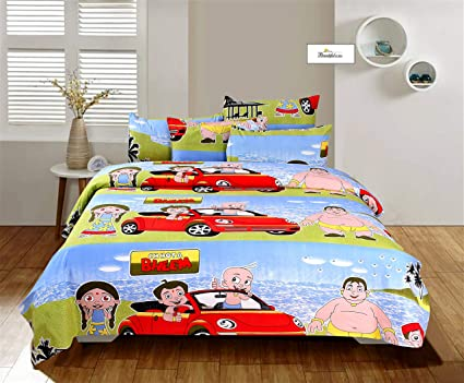 Beautiful Homes 310 Tc Pure Cotton Cartoon Print Bedsheet For Double Bed Kids Bedsheets For Double Bed 230 X 250 Cm With 2 Pillow Covers Amazon In Home Kitchen