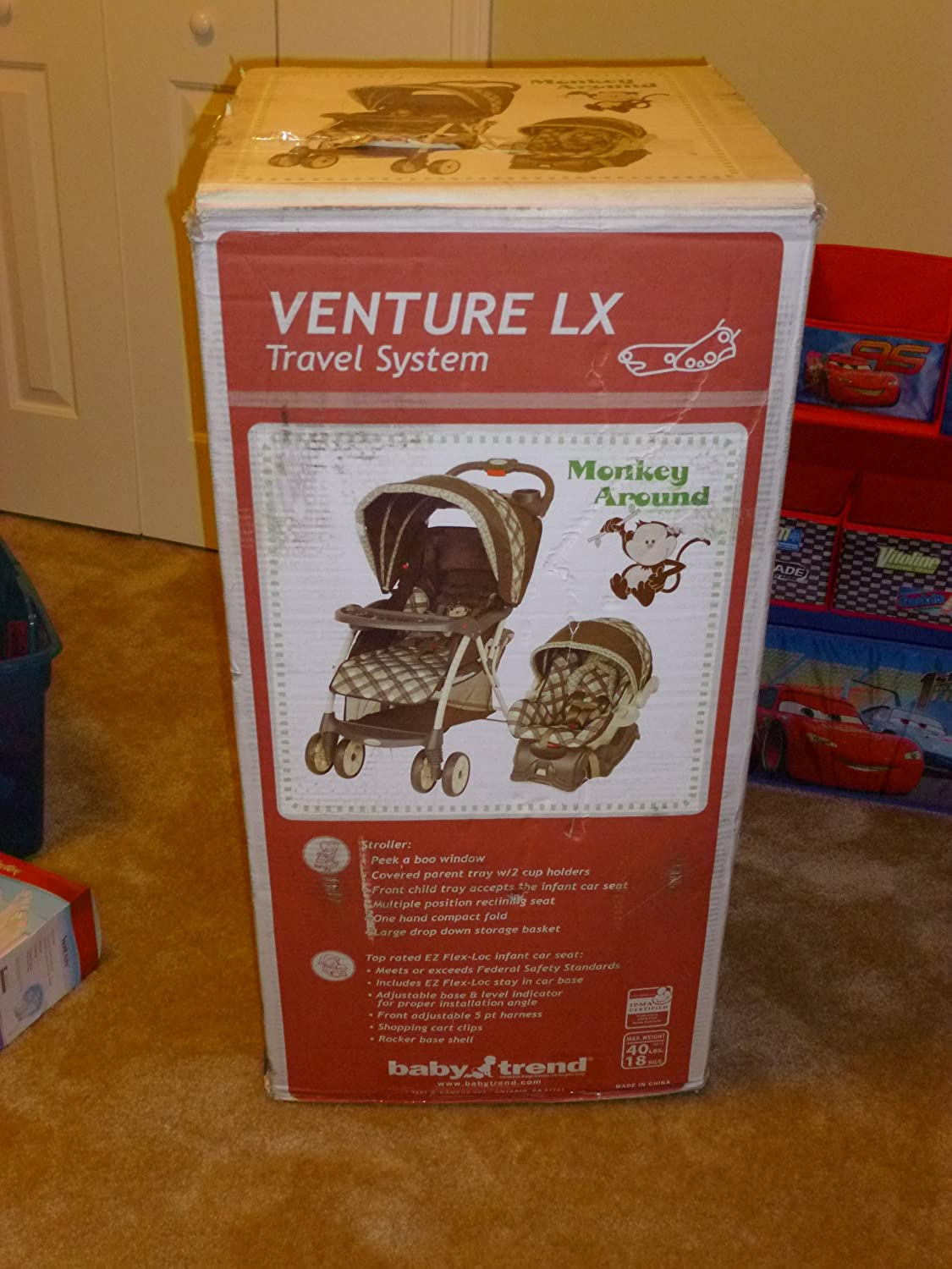 Amazon.com : Baby Trend Venture LX Travel System Stroller - Monkey Around : Toy Figures : Baby