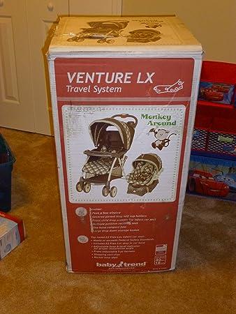 Amazon.com : Baby Trend Venture LX Travel System Stroller - Monkey Around : Toy Figures : Baby