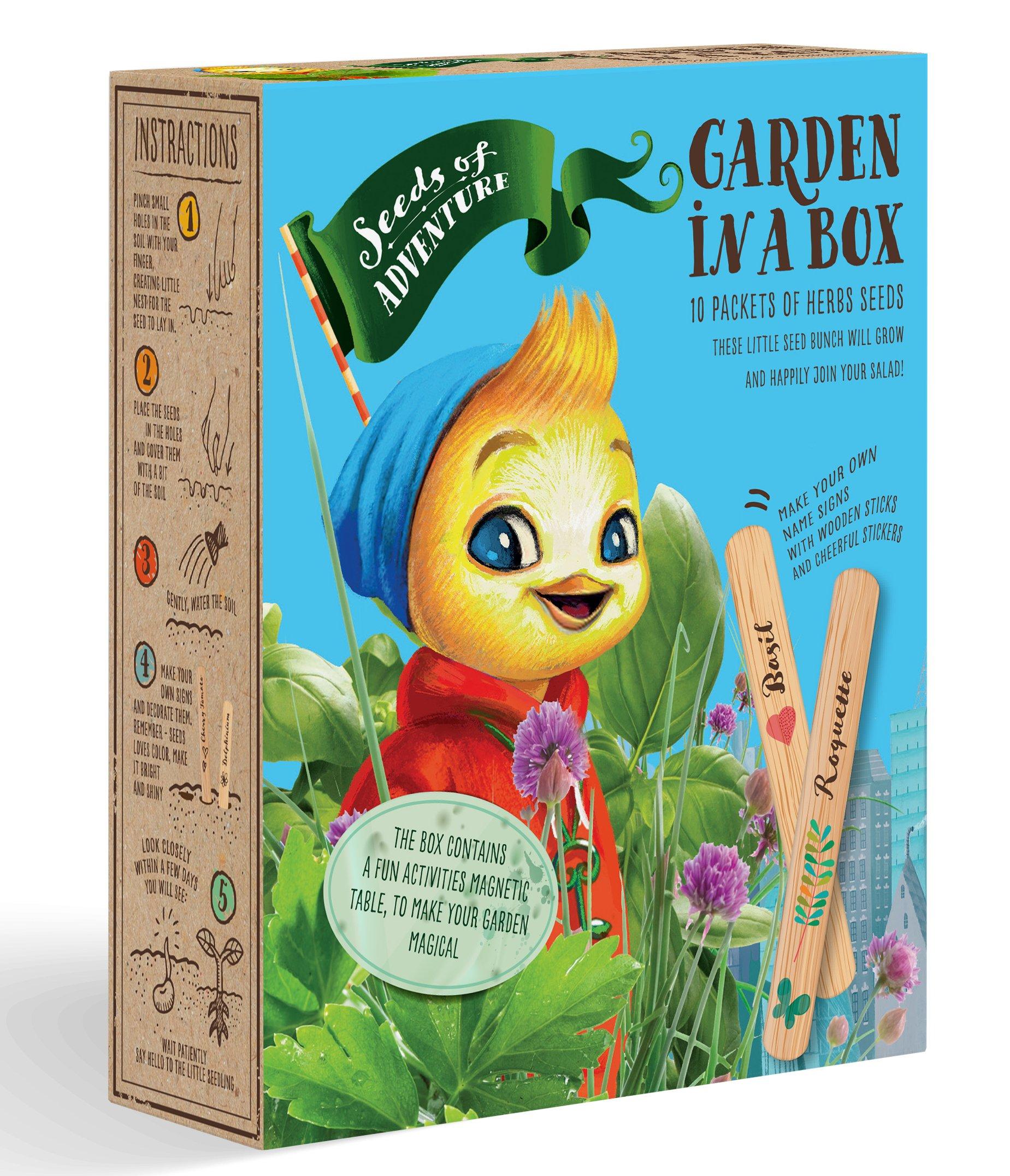 Herbs Seeds Garden In A Box (Herb Seeds Set of 10)