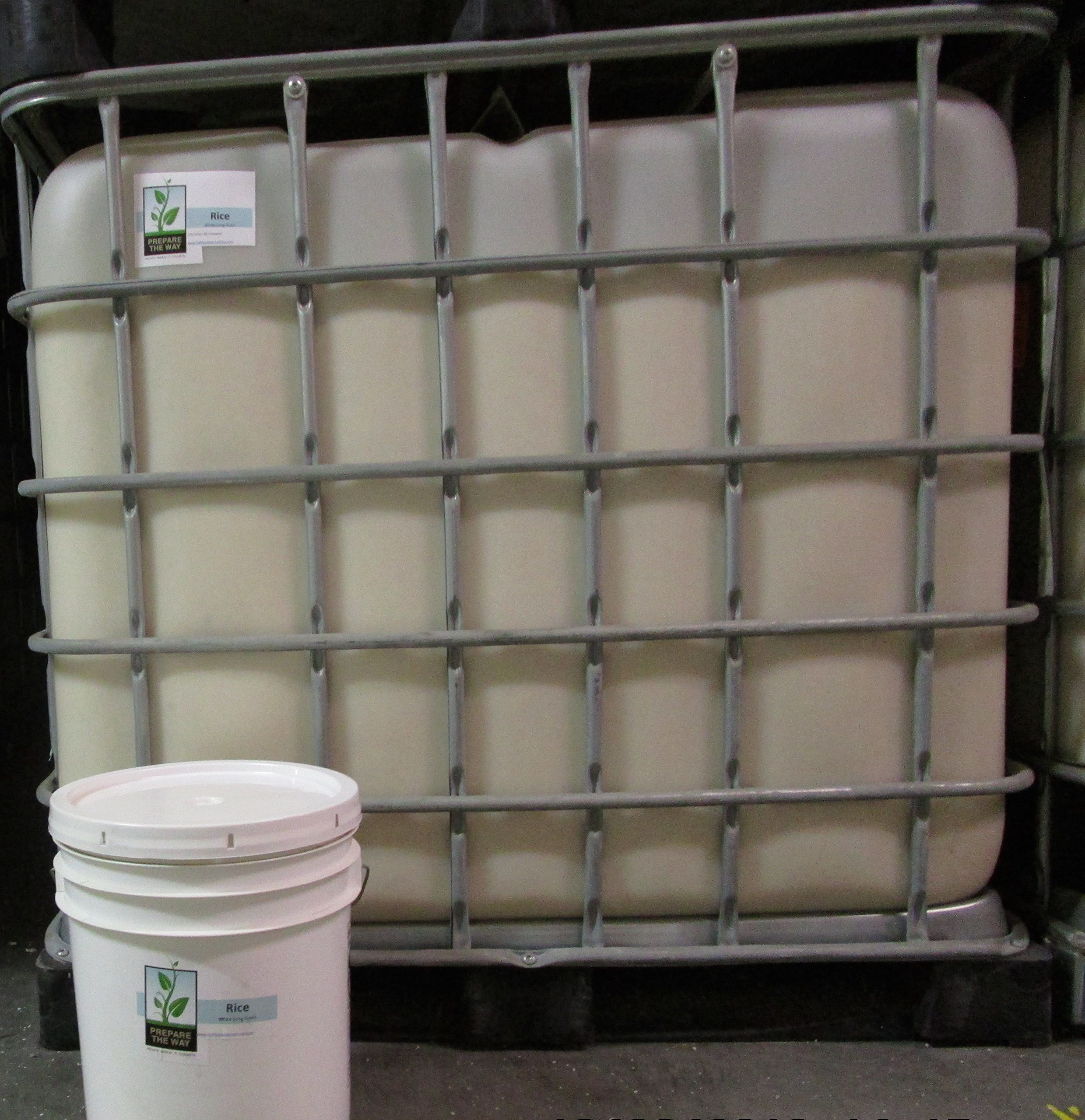 Rice - White Long Grain Non-gmo, Gluten Free - Kept in 275 Gallon IBC Containers for Emergency Storage, Preparedness (Prepper), Bulk Food Survival, Investment & Disaster Solutions