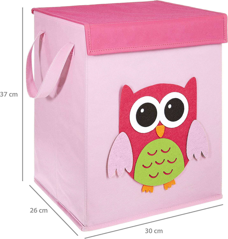 LOMOS caja para juguetes con diferentes motivos colorido y mucho espacio para almacenar 37x 30x 26cm