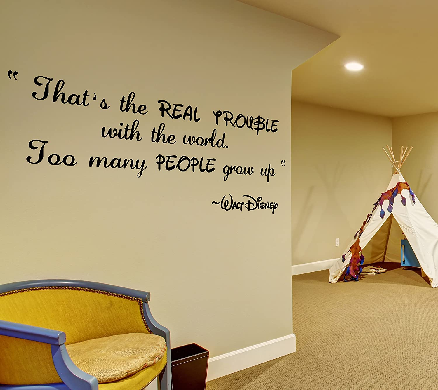 Amazon.com: ( 79\'\' x 32\'\' ) Vinyl Wall Decal Quote Thats Real ...