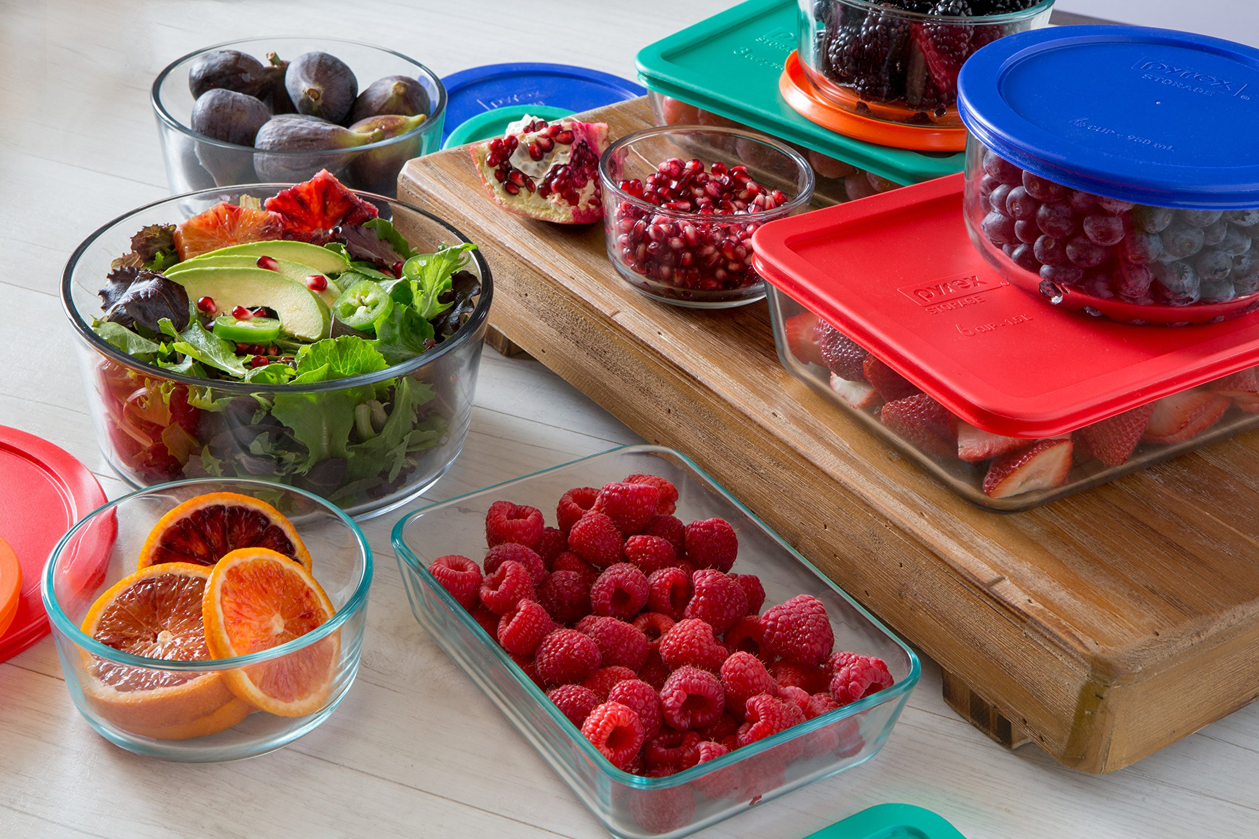 Pyrex Simply Store Glass Rectangular and Round Food Container Set (18-Piece, BPA-free) by Pyrex (Image #3)