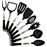 KitchZen 8 Piece Stainless Steel Cooking Utensils Set, MADE IN USA