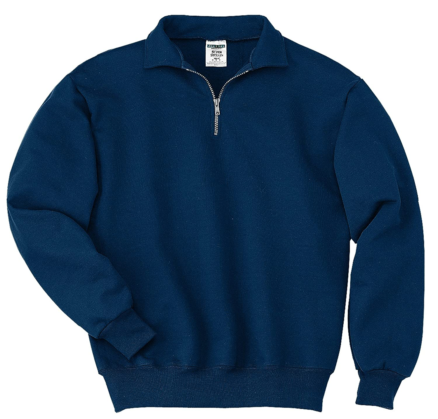 Jerzees Mens SUPER SWEATS 1/4-Zip Sweatshirt with Cadet Collar 4528M