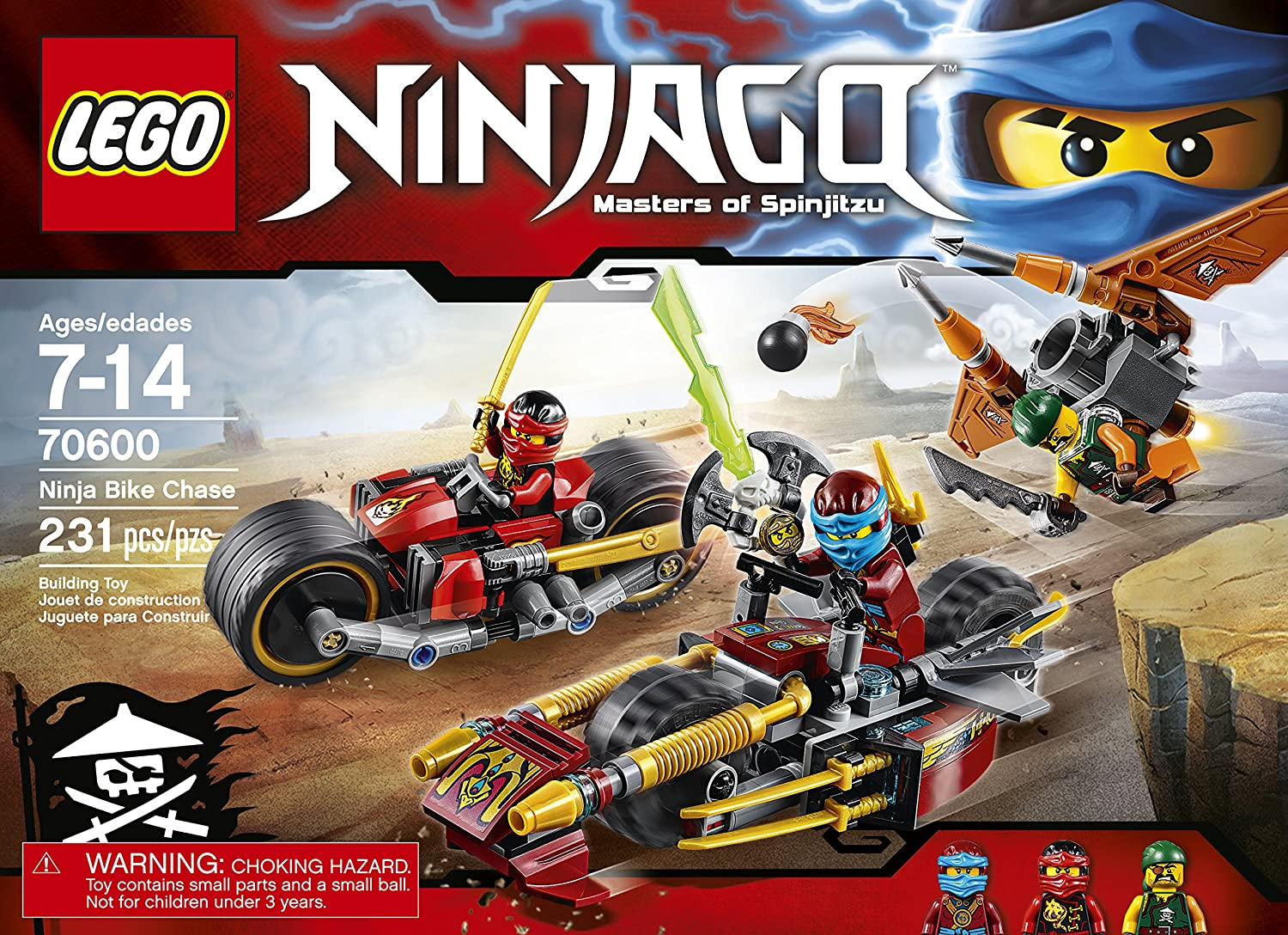 LEGO Ninjago Ninja Bike Chase 70600 by LEGO: Amazon.es ...