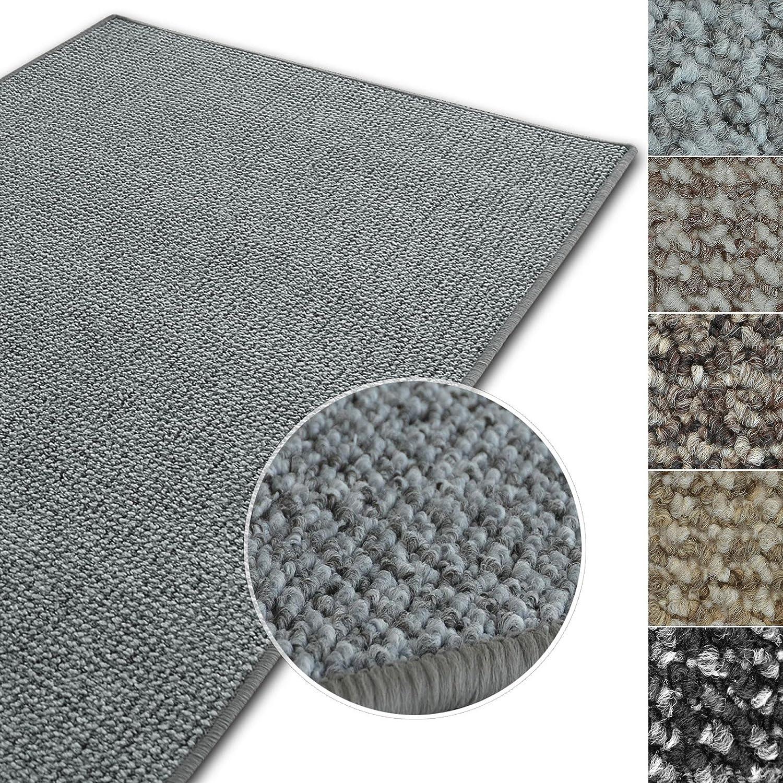 Casa pura Kurzflor Teppich Carlton   Flachgewebe dezent Gemustert   robuster Schlingenteppich in vielen Größen   als Wohnzimmerteppich, Küchenteppich, Schlafzimmerteppich (Anthrazit - 140x200 cm) B07BHK679T Teppiche