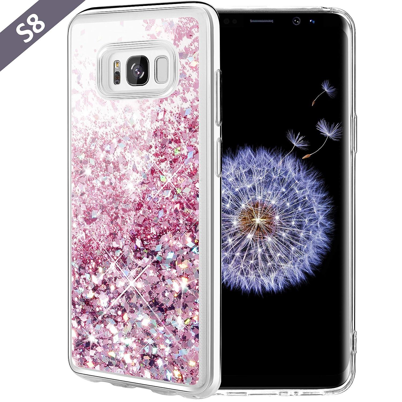 samsung galaxy s8 case rose gold glitter
