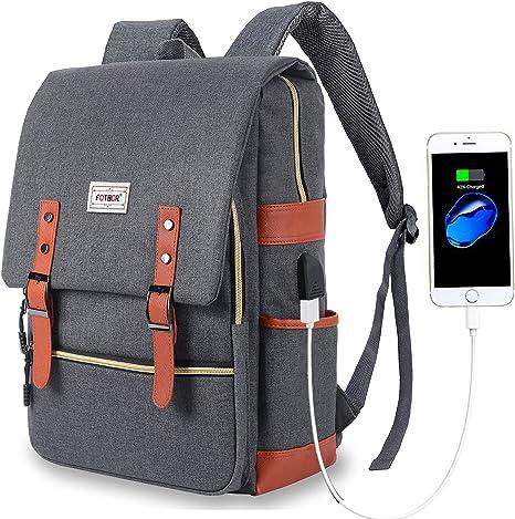 "Men Business Backpack Laptop Light Slim School 15.6/"" Rucksack Hiking Travel Bag"