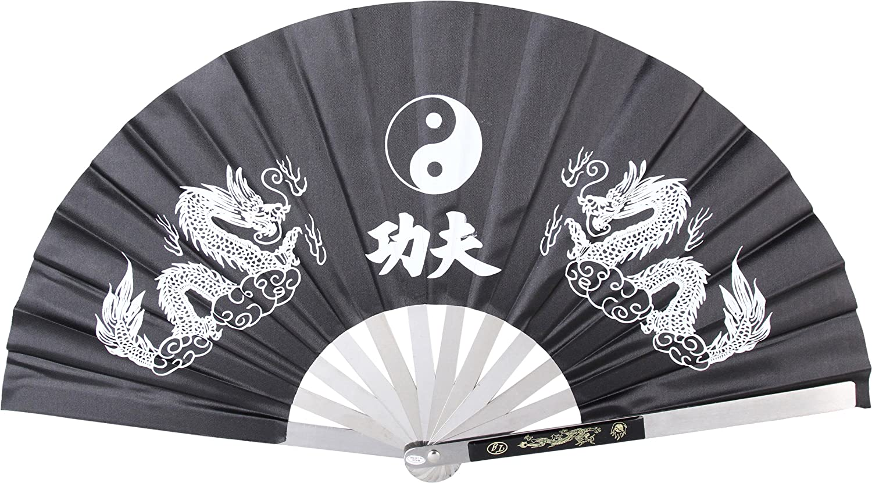 hand fan metal. amazon.com : bladesusa 2510-cbk kung fu fighting fan, metal frame, black/white, 14-3/4-inch length, 27-1/4-inch open martial arts ninja weapons sports \u0026 hand fan u