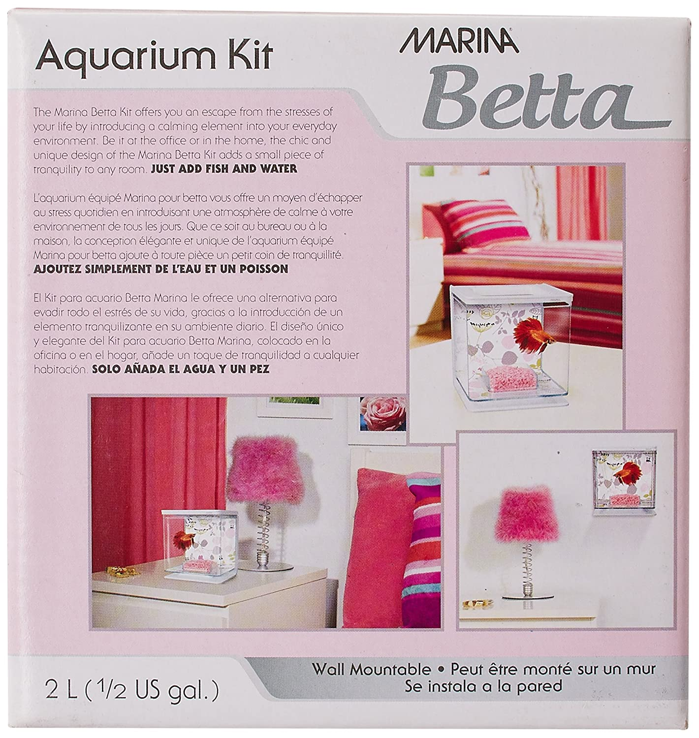 Amazon.com : Marina Betta Aquarium Starter Kit, Flora : Fish : Pet Supplies