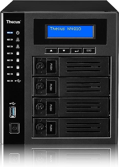 Thecus N4810 Servidor de Almacenamiento Ethernet Escritorio Negro ...