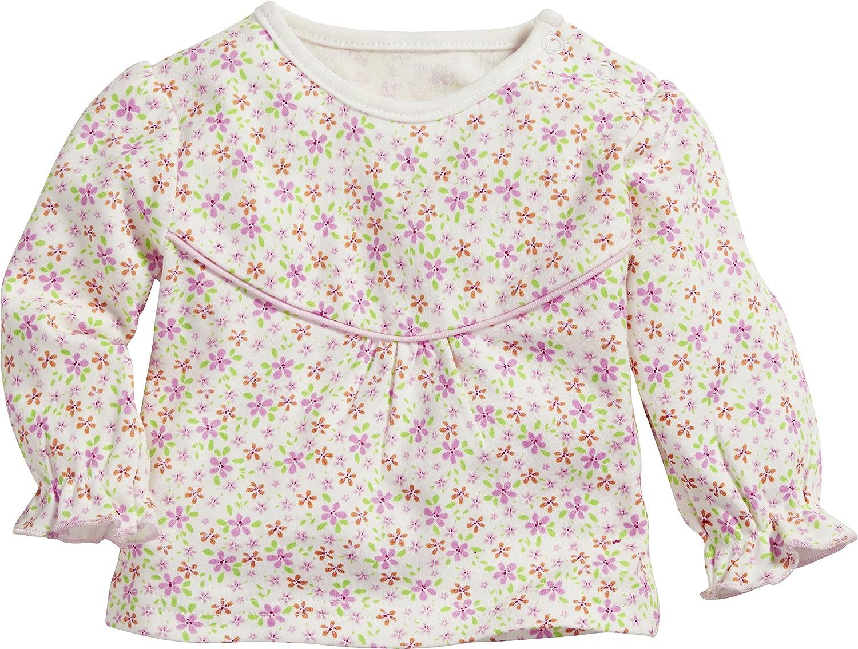 Schnizler Baby-M/ädchen Sweat-Shirt Interlock Blumen Langarmshirt