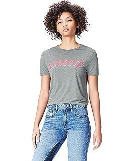 Marke find Damen Sweatshirt Paris Embroidered