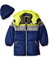 iXtreme Boys' Tonal Colorblock Puffer with Hat