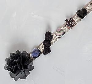 Refrigerator Magnets - Elegant Decorative Fridge Magnet Set - 6 Fridge Magnets for Cabinets, Whiteboards & Lockers - Colorful Magnets for Gift, Home Decor & Practical use - Black Shimmer