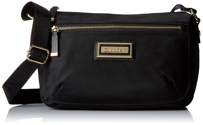 80865e7e9a4 Calvin Klein Nylon E/W Crossbody Bag, Black/Gold, One Size: Amazon.ca:  Clothing & Accessories