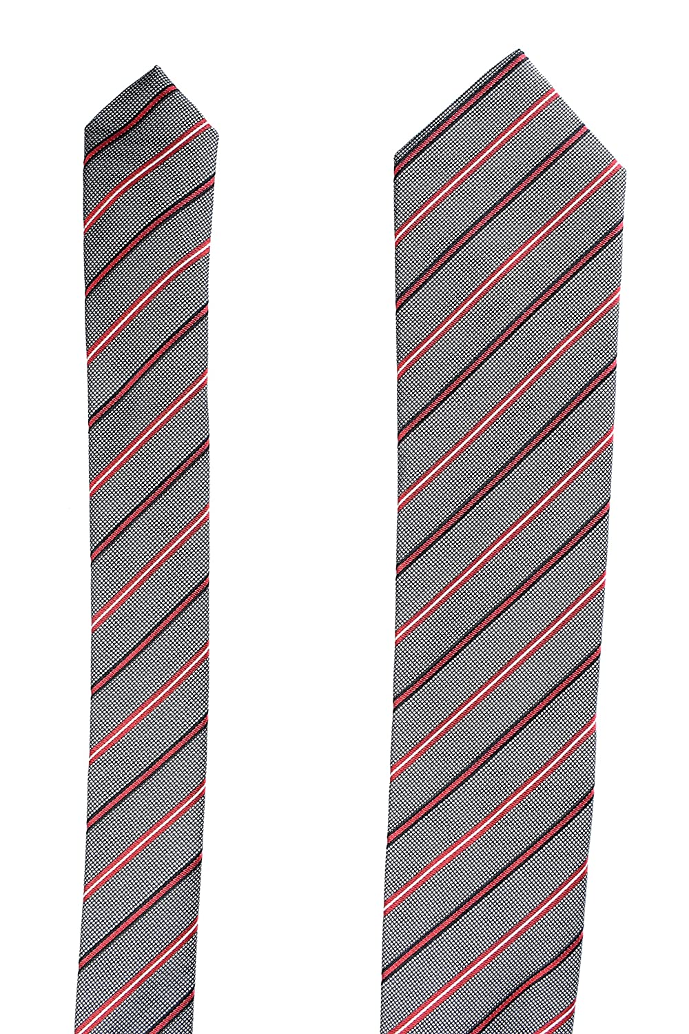 Hugo Boss Mens Multi-Color Striped 100/% Silk Tie