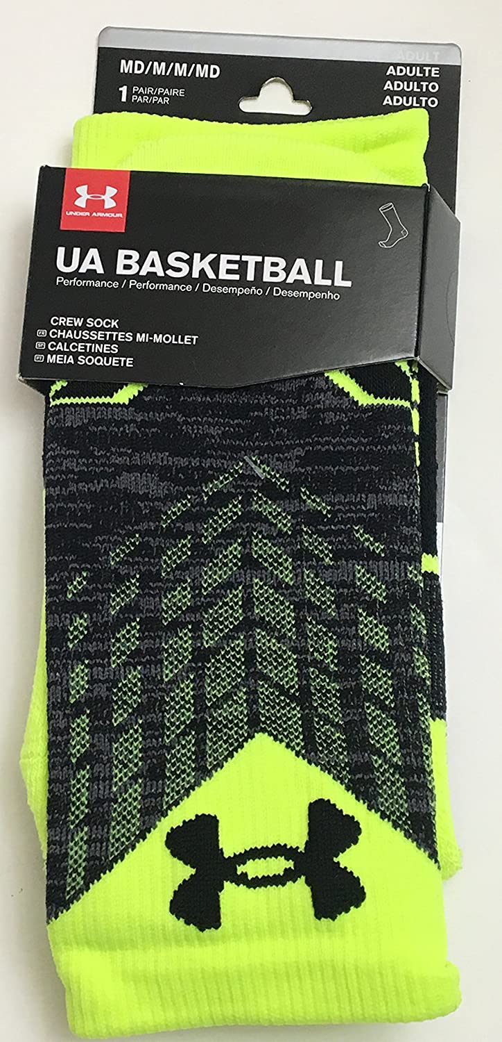 Amazon.com: Under Armour Basketball Performance Crew Socks Neon Yellow: Clothing