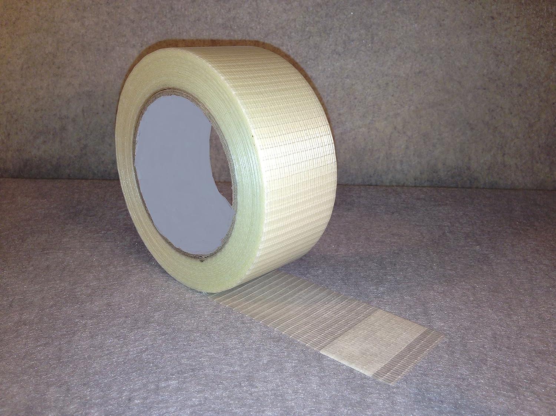 18 Rolls Of STRONG CROSSWEAVE REINFORCED TAPE 50mm x 50M Globe Packaging